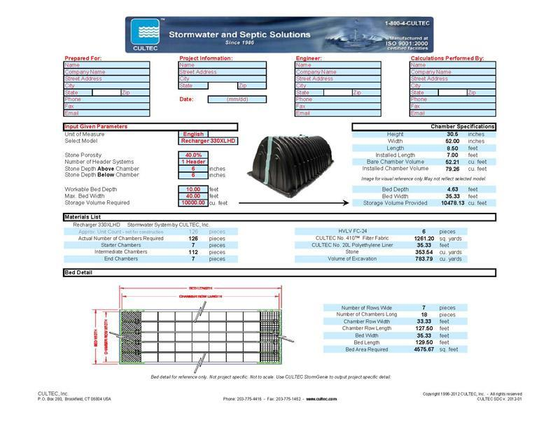 Stormwater Design Calculator Cultec Inc